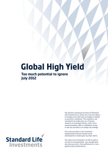 Global high yield - too much potential to ignore
