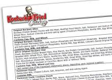 Glutamatkyckling à la KFC