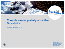 SWOT analysis: Towards a more globally attractive Stockholm