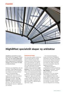 Höghållfast specialstål skapar ny arkitektur