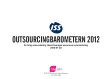 Outsourcingbarometern 2012