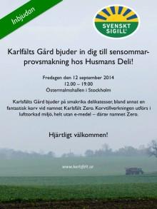 På fredag bjuder en av de förstklassiga Svensk Sigill-certifierade gårdarna in till provsmakning!