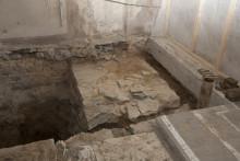Gammal kyrkomur hittad under domkyrkan
