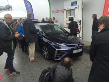 Toyota Mirai på blixtvisit i Sverige