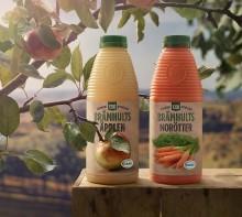 Första nypressade eko-juicen i butikshyllan!