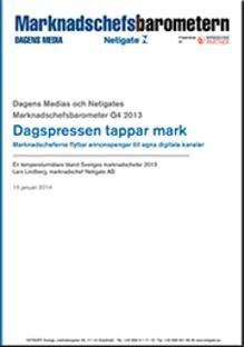 Marknadschefsbarometern: Dagspress tappar mark när marknadscheferna satsar på digitala kanaler och content marketing