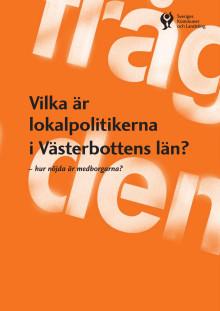 Vilka är lokalpolitikerna i Västerbottens län?