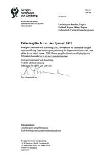 Patientavgifter i öppen hälso- och sjukvård år 2012 PDF