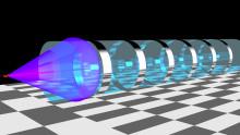 Ljusböjande material underlättar jakten på nya partiklar