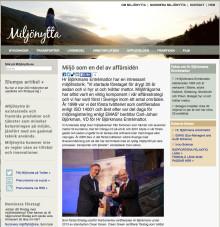 Hr Björkmans blir uppmärksammade av miljönytta.se