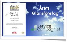 ServiceCompagniet blev Årets Glansföretag
