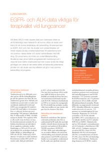 Överläkare Gunnar Wagenius – Klara överlevnadsvinster vid lungcancer efter test av tumör