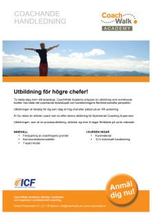CWA Produktblad Coachande Handledning