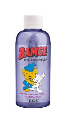 Bamse by CCS bad- & kroppsolja håller barnens hud mjuk och len i höst