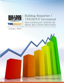 TEKGROUP's 2010 Social Journalism Survey