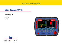 Användarmanual, Grävsystem, 3D, XC16 från Scanlaser