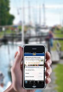 Göta kanalappen släpps nu på engelska och tyska