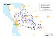 Karta Vegeåns Avrinningsområde