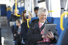 Internet ombord på bussen i Uppland