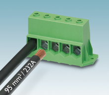 High-current PCB terminal for power electronics