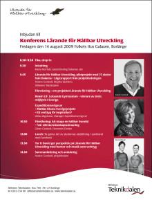Inbjudan till Konferens Lärande för Hållbar Utveckling