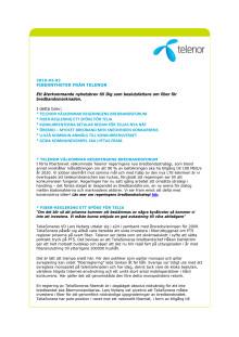 Fiberbrev från Telenor - 2010 #3