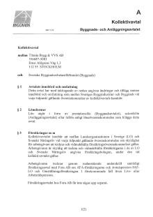 Titanias kollektivavtal med Byggettan