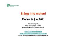 Presentation - Louise Ungerth - Findus Matseminarium 14 juni