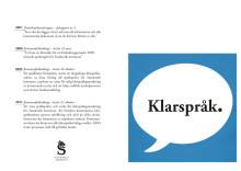 Folder om klarspråk i Sundsvalls kommun