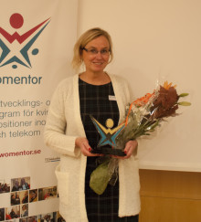 Ulrika Holmbring, IFS och Microsoft vinnare av Womentorpriset 2014