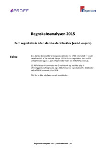 Dansk erhvervsliv - Regnskabsanalysen 2015 - detailsektoren
