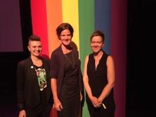 Oppositionsledaren Anna Kinberg Batra frågades ut i Pride House