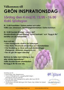 Välkommen till Grön Inspirationsdag lördag 4 maj 2013