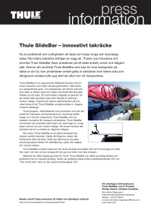 Thule SlideBar – innovativt takräcke som vinner iF Product Design Award