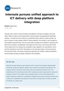 Interoute bedriver enhetligt förhållningssätt till ICT leverans med en djup plattform integration