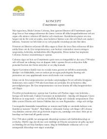 Regissörens koncept - Il matrimonio segreto - Drottningholms slottsteater maj 2013