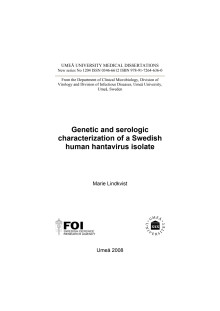 Genetic and serologic characterization of a Swedish human hantavirus isolate