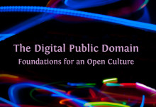 "Välkommen till Boksläppet av ""The Digital Public Domain: Foundations for an Open Culture"""