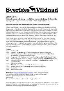 seminarium Sveriges Vildnad