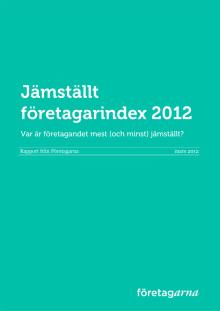 Jämställt företagarindex 2012