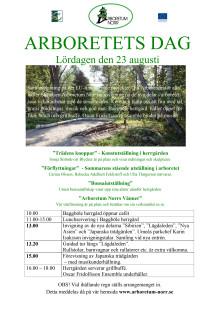 Program invigning nya delar i Arboretum Norr