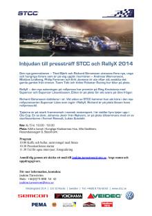 Inbjudan pressträff i Stockholm – STCC och RallyX 2014
