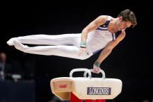 Christopher Soos och Michael Trane jublar efter sitt första VM i artistisk gymnastik