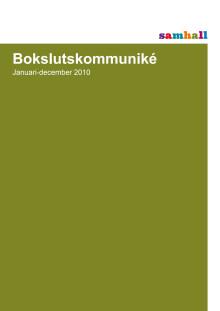 Kvartalsrapport Q4-2010