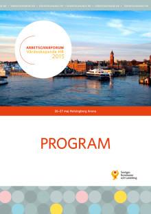 Program till Arbetsgivarforum 2015