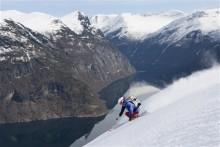 Extremt annorlunda skidåkning i Fjordarna