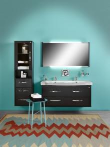 Läcker färgsättning skapar harmoni i badrummet