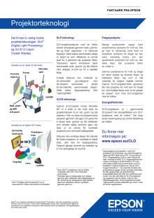 Epson CLO - Faktablad: Projektorteknologi