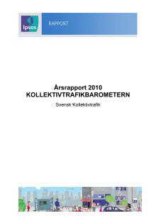Årsrapport 2010 Kollektivtrafikbarometern