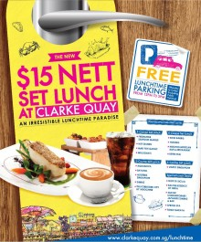 PRESS RELEASE: CLARKE QUAY $15 NETT SET LUNCH 2012